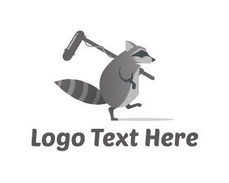 Walk - Microphone & Racoon  logo design