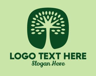 Oak - Green Tree App logo design