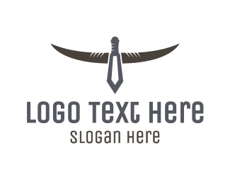 Hunting Equipment - Dagger Horns logo design