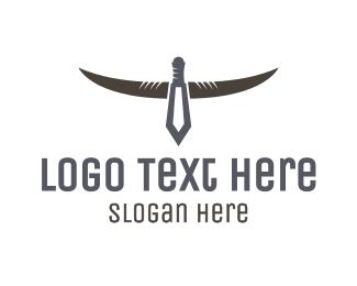 Horns - Dagger Horns logo design