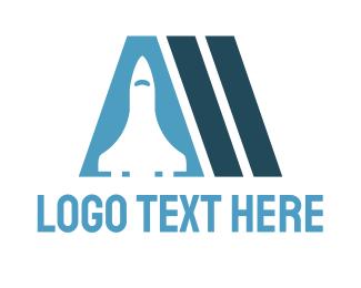Aerospace - Spaceship Letter A logo design