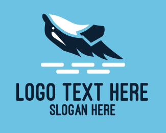 Killer Whale - Killer Whale Aquarium logo design