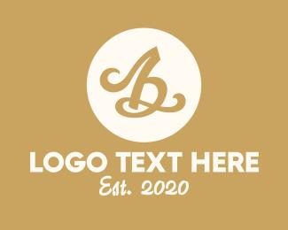 Typography - Elegant Calligraphy Letter B logo design