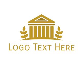 Vintage - Gold Vintage Coliseum  logo design