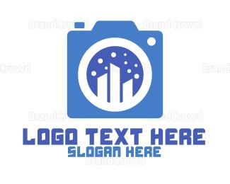 Electronics Boutique - Blue City Camera logo design