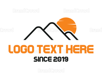 Apex - Mountain Sunrise logo design