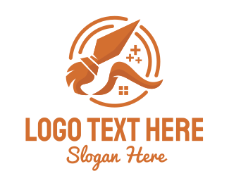 Service - Orange House Cleaning Service  logo design