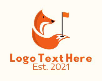 Golf Course - Fox Golf Course logo design