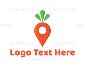 Carrot - Carrot Locator logo design