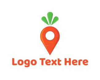 Raw - Carrot Locator logo design