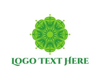 Mandala - Green Mandala logo design