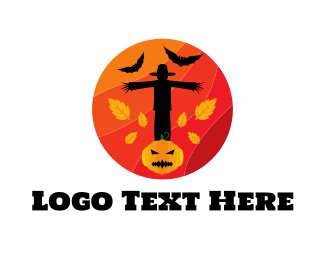 Pumpkin - Halloween Circle logo design