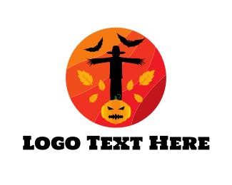 Autumn - Halloween Circle logo design