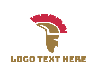 Roman - Greek Helmet logo design