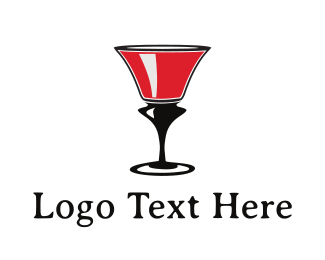 Sangria - Red Wine Glass logo design