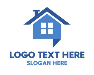 Talking - Home Talk logo design