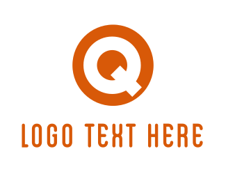 Letter Q - Circle Letter Q logo design