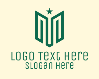 Military - Abstract Military Letter M logo design