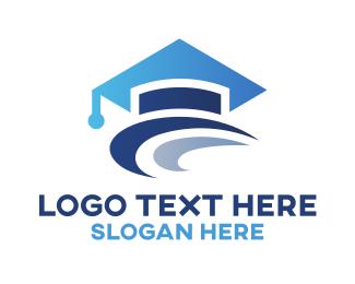 Graduate - Graduation Hat  logo design