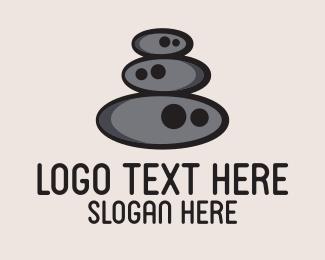 Pebble - Stone Stack  logo design