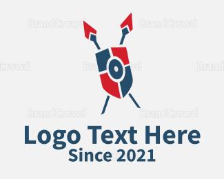 Armor - Shield & Spears logo design