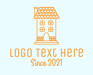 Tenement - Orange Love House  logo design