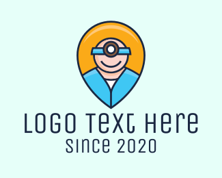 Healthcare - Medical Healthcare Nurse Location Pin logo design