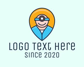Nurse - Medical Healthcare Nurse Location Pin logo design