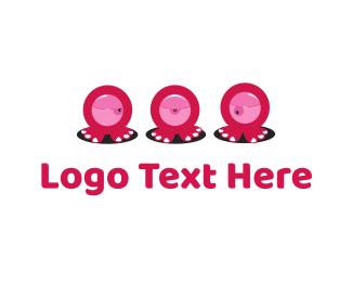Feet - Eye Monsters logo design
