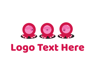 Horror - Eye Monsters logo design