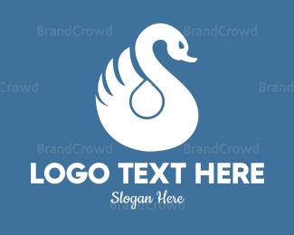 Duck - Swan Drop  logo design