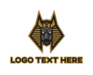 Egyptian - Egyptian Anubis logo design