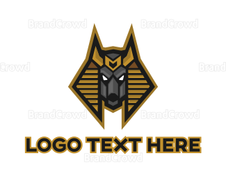 Deity - Egyptian Anubis logo design