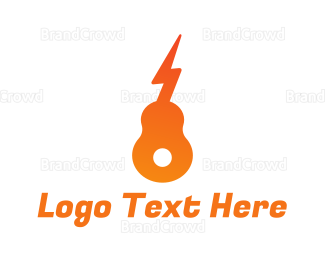 Instrument - Electric Guitar logo design