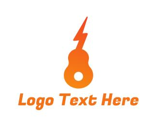 Acoustic - Electric Guitar logo design