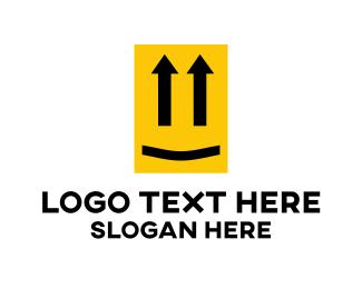 Up - Yellow Up Face logo design