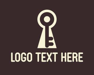 White Keyhole Logo