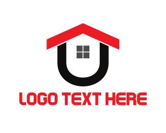 House Letter U Logo