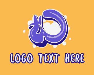 Lively - Blockbuster Graffiti Letter O logo design