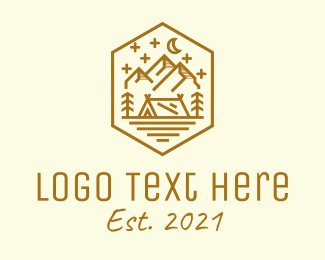 Camping Site - Outdoor Camping Site  logo design
