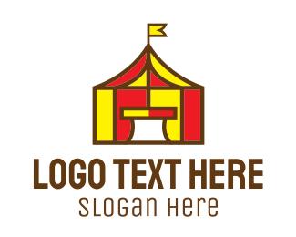 Carnival - Circus Tent logo design