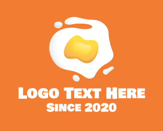 Breakfast Restaurant - Sunny Side Up Egg logo design