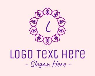 Droplet - Petal Droplets Lettermark logo design