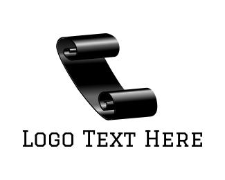 Poetry - Black Paper Sheet logo design