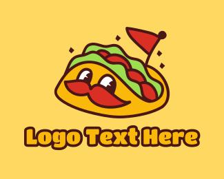 Taco Delivery - Cute Taco Mascot logo design