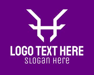 Antlers - Antlers Purple White logo design