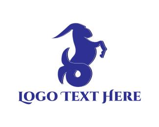 Zodiac - Sea Goat logo design