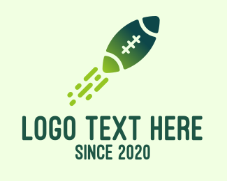 Rugby League - Green Rugby Rocket logo design