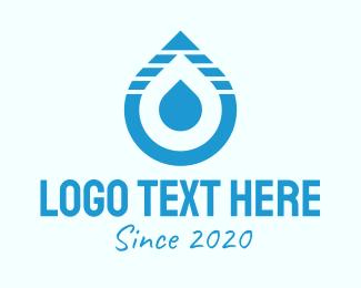 Element - Blue Water Droplet logo design