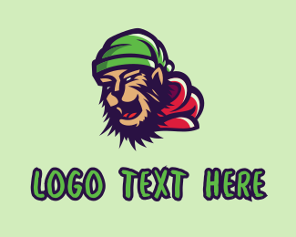 Skateboarder - Hip Hop Chimp Graffiti  logo design